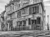 Paris Montmartre Streetlife und Architektur in schwarz-weiss