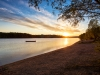 Sonnenuntergang im fränkischen Seenland / Brombachsee in Bayern