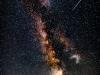 Perseid stream of meteors & milkyway 2018